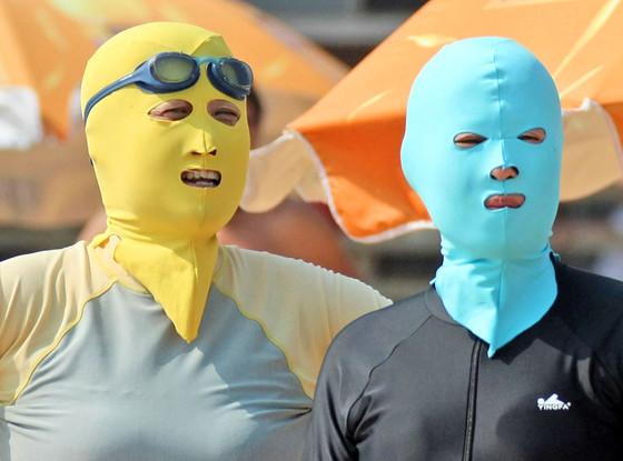 Chinese Beachgoers, Face-Kini