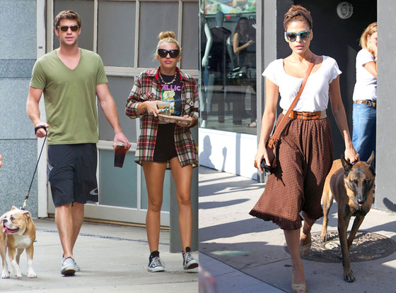 Liam Hemsworth, Miley Cyrus, Eva Mendes