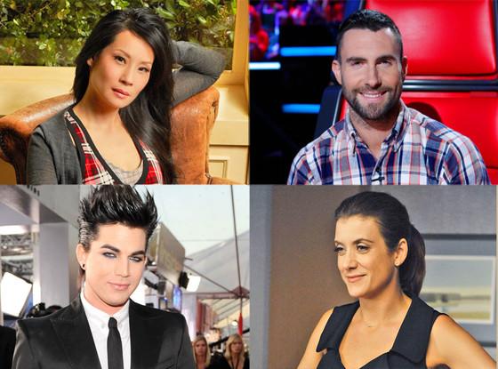 Adam Lambert, Kate Walsh, Adam Levine, Lucy Liu