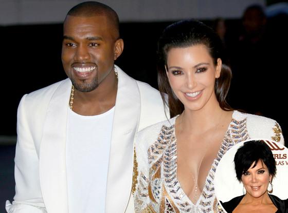 Kanye West, Kim Kardashian, Kris Jenner