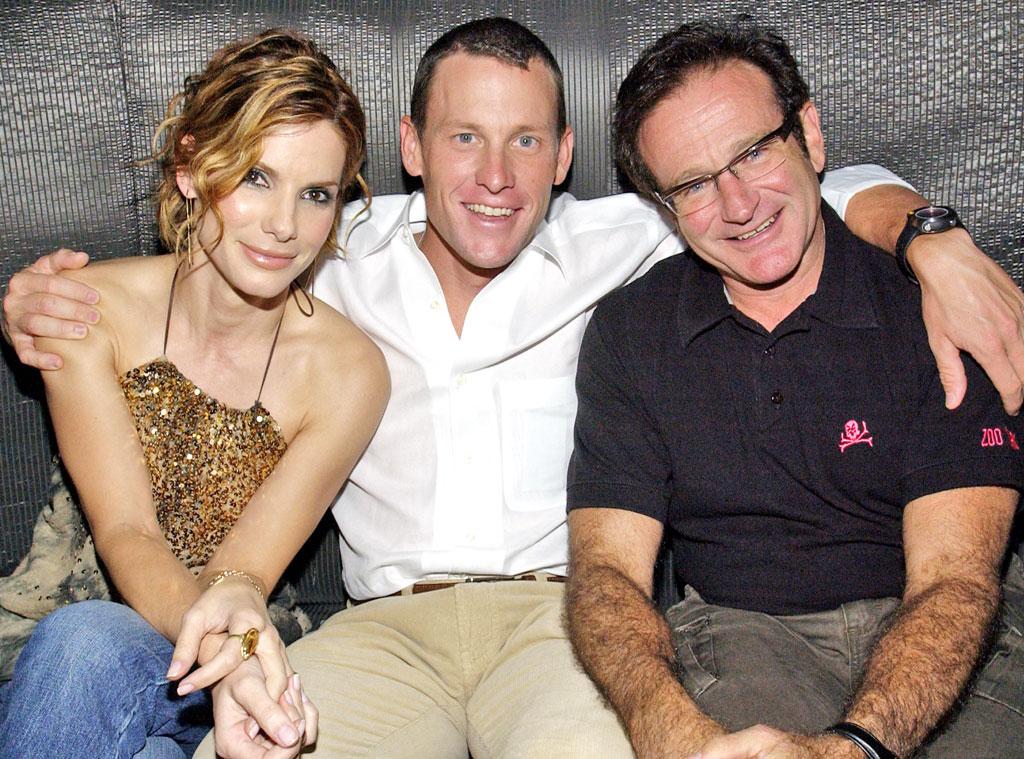 Sandra Bullock, Lance Armstrong, Robin Williams
