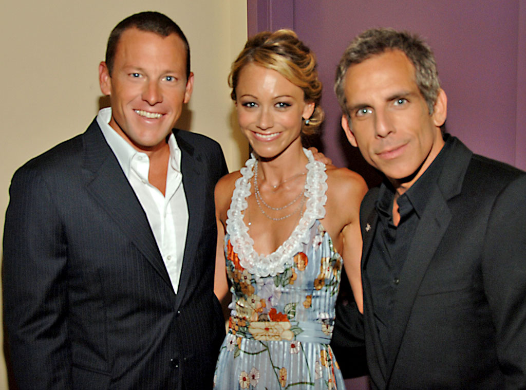 Christine Taylor & Ben Stiller from Lance Armstrong's Famous