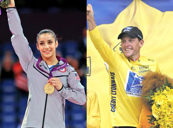 Aly Raisman, Lance Armstrong
