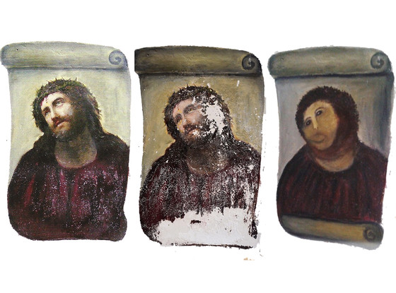 Ecce Homo, botched Jesus Painting