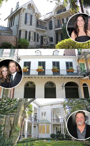 Hurrican Issac, New Orleans Homes, Sandra Bullock, Brad Pitt, Angelina Jolie, John Goodman