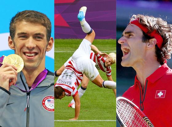 Michael Phelps, Megan Rapinoe, Abby Wambach, Roger Federer