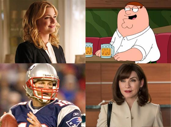 Revenge, Sunday Night Football, The Good Wife, Family Guy