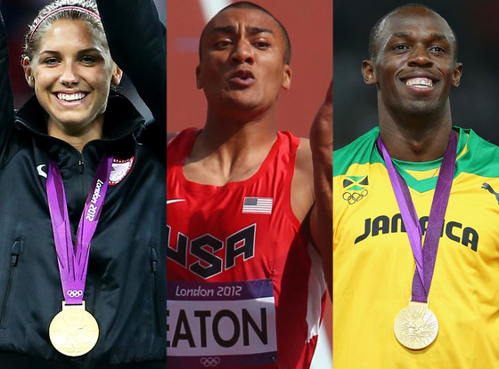 Alex Morgan, Ashton Eaton, Usain Bolt