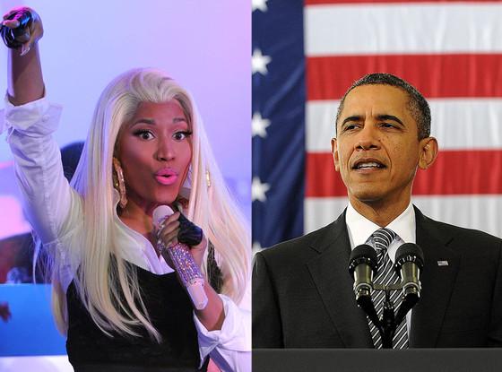 Nicki Minaj, President Barack Obama