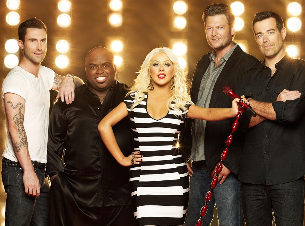 THE VOICE, Adam Levine, CeeLo Green, Christina Aguilera, Blake Shelton, Carson Daly