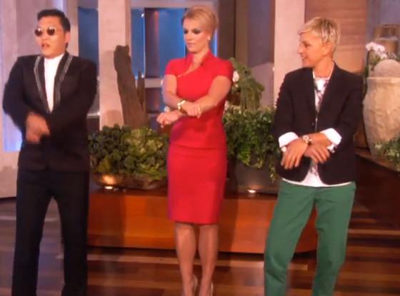 Psy, Britney Spears, Ellen Degeneres