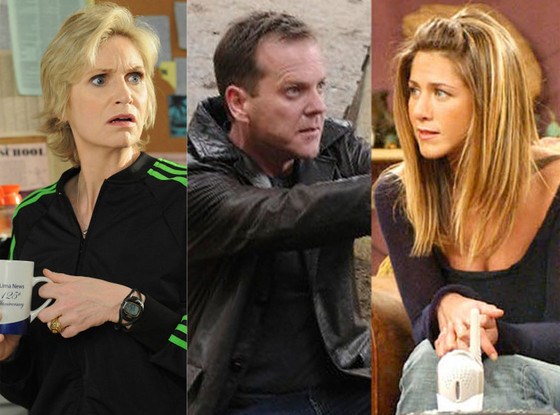 Jane Lynch, Kiefer Sutherland, Jennifer Aniston
