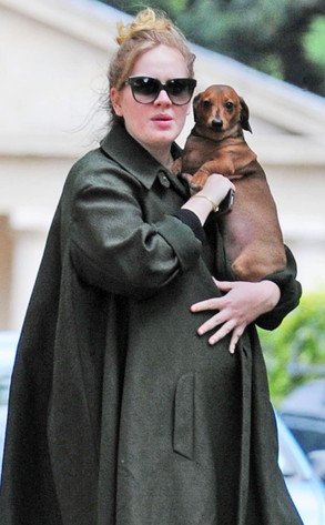 Adele and Her Baby Bump Look Lovely in London | E! News