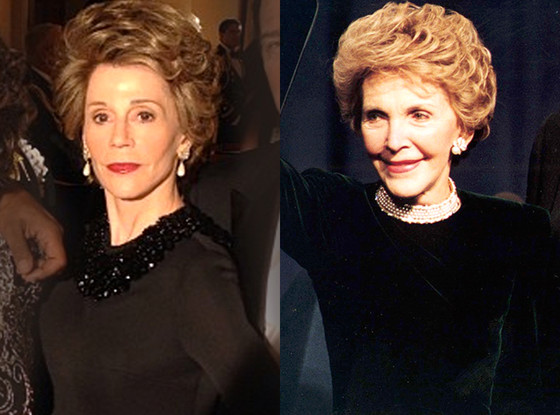 Jane Fonda, Nancy Reagan