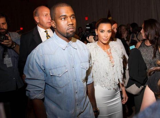 Kim Kardashian, Kanye West, New York Fashion Week