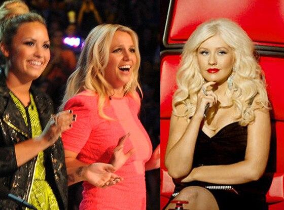 Britney Spears, Demi Lovato, X Factor, Christina Aguilera, The Voice