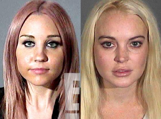 Amanda Bynes, Lindsay Lohan, Mug Shot