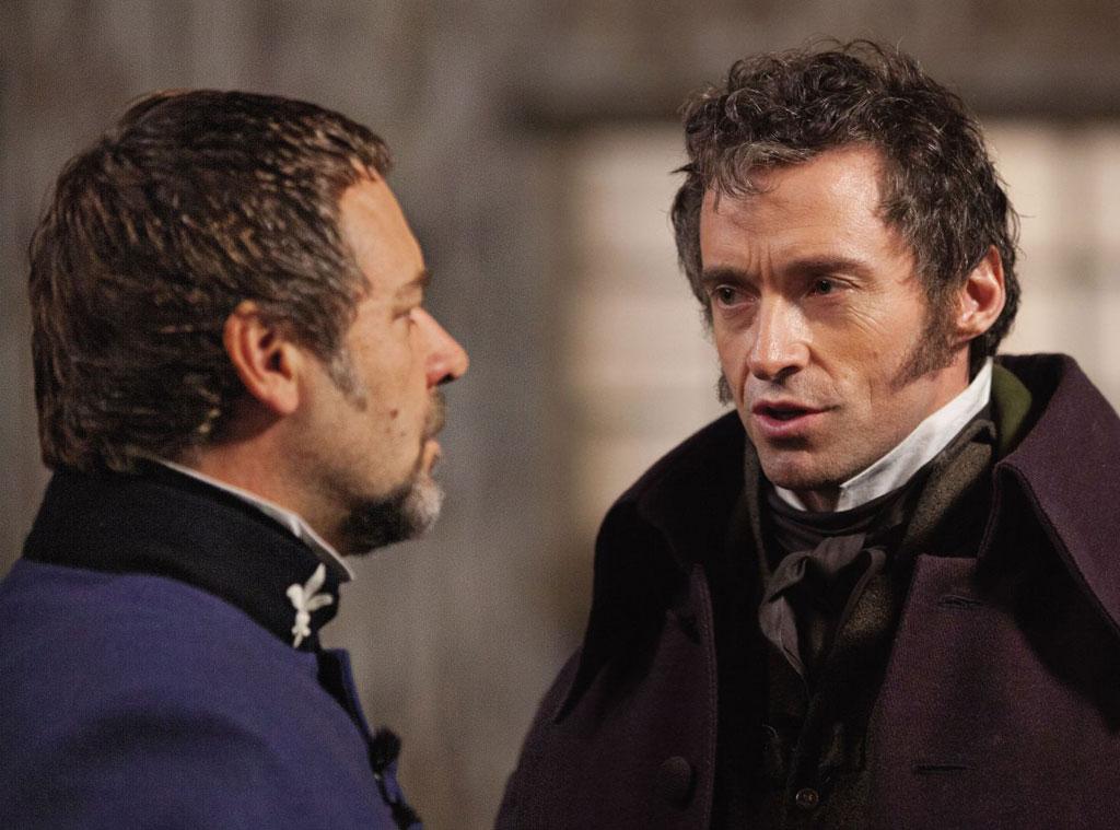 Russell Crowe, Hugh Jackman, Les Miserables
