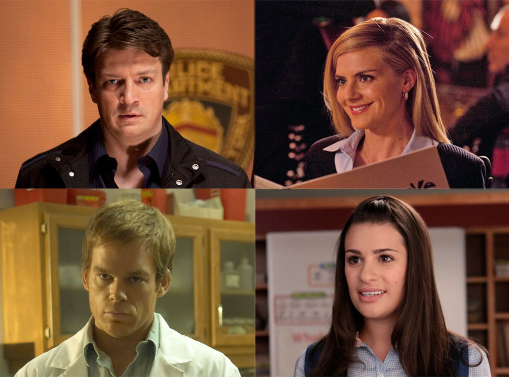 Eliza Coupe, Happy Endings, Michael C. Hall, Dexter, Lea Michele, Glee Nathan Fillion, Castle