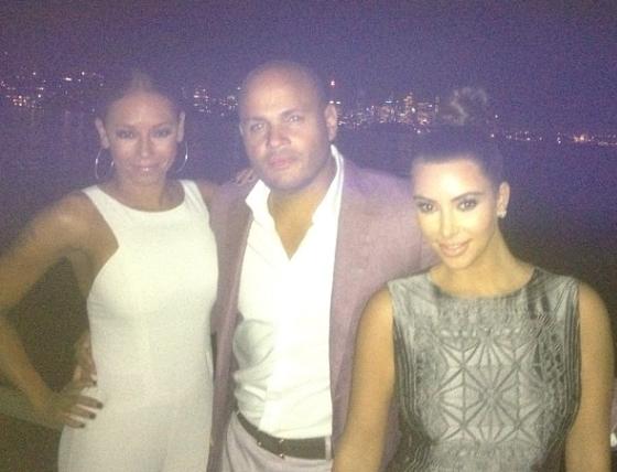 Kim Kardashian, Mel B, Stephen Belafonte