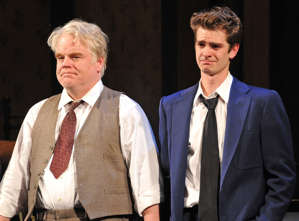 Philip Seymour Hoffman, Andrew Garfield, Death of a Salesman, Broadway