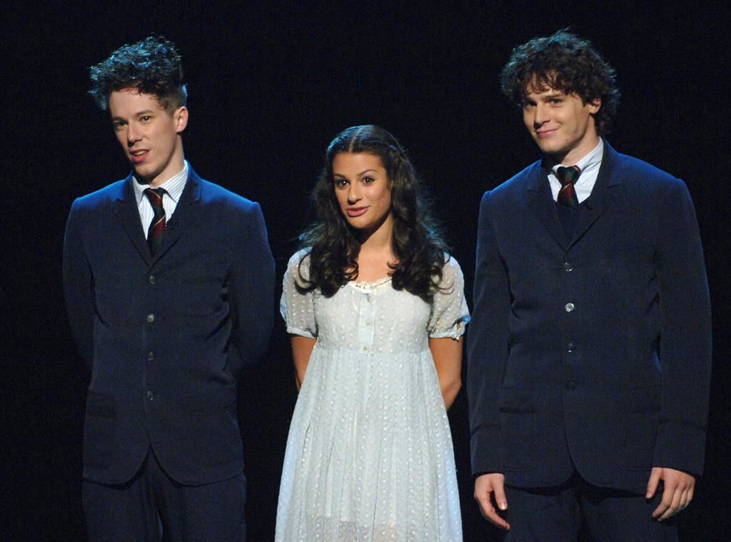 John Gallagher Jr., Lea Michele, Jonathan Groff, Spring Awakening, Broadway