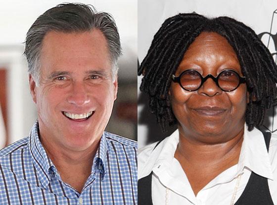 Mitt Romney, Whoopi Goldberg