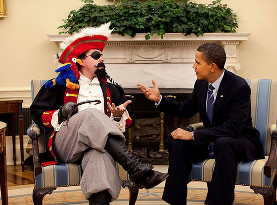 Barack Obama, Pirate, Twit Pic