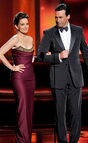 Emmy Awards, Tina Fey and Jon Hamm