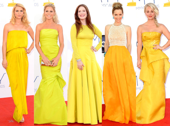 Emmy Awards, Claire Danes, Julie Bowen, Julianne Moore, Leslie Mann, Kaley Cuoco
