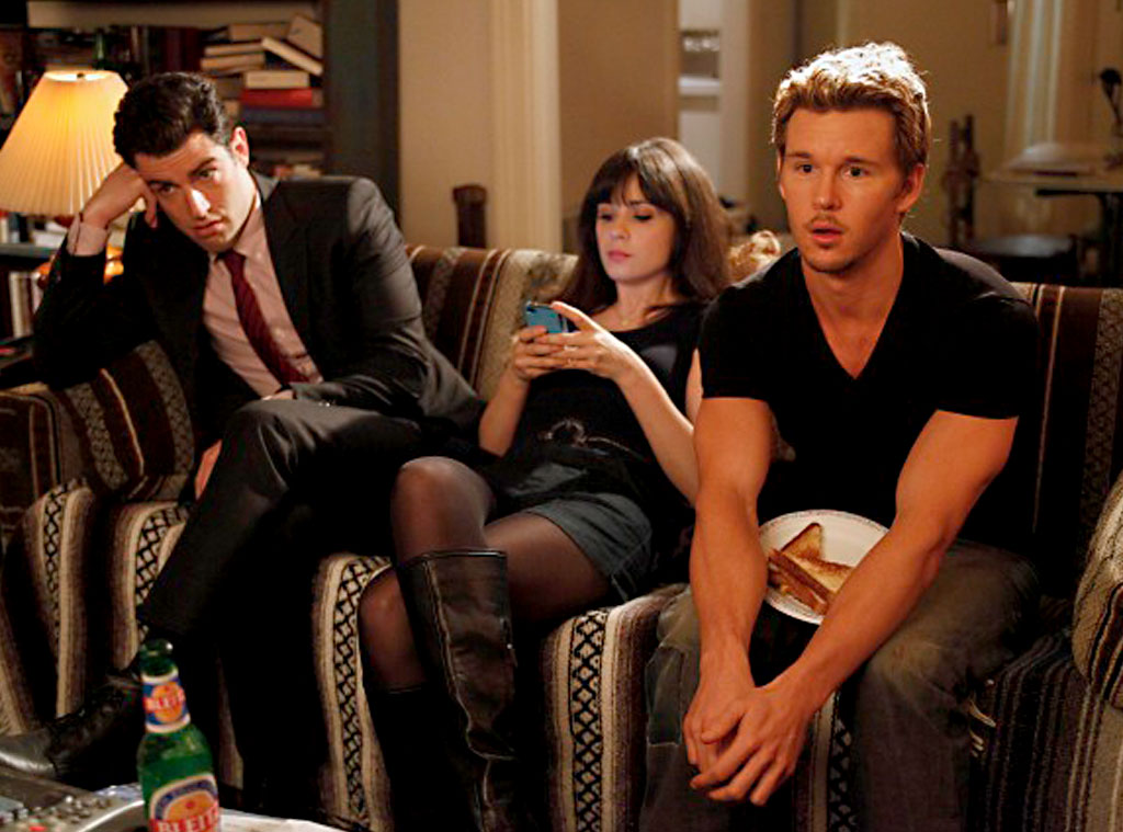 NEW GIRL, Zooey Deschanel, Ryan Kwanten, Max Greenfield
