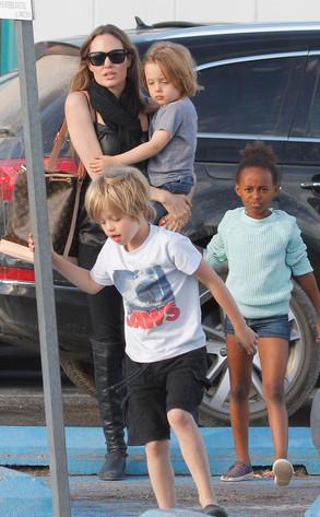 Angelina Jolie, Knox, Shiloh, Zahara