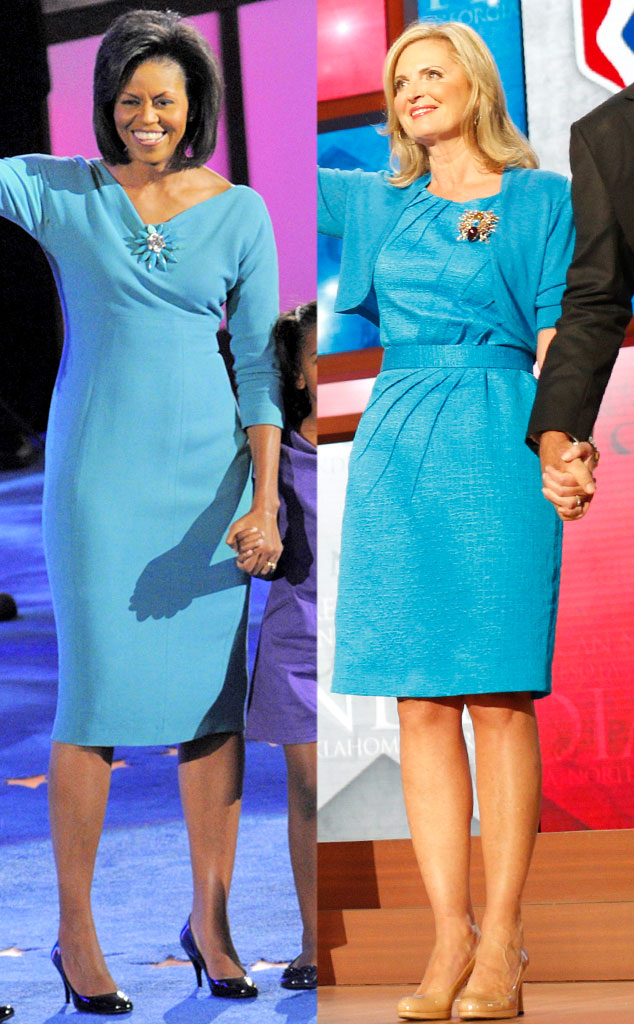 Michelle Obama, Ann Romney, Blue dress
