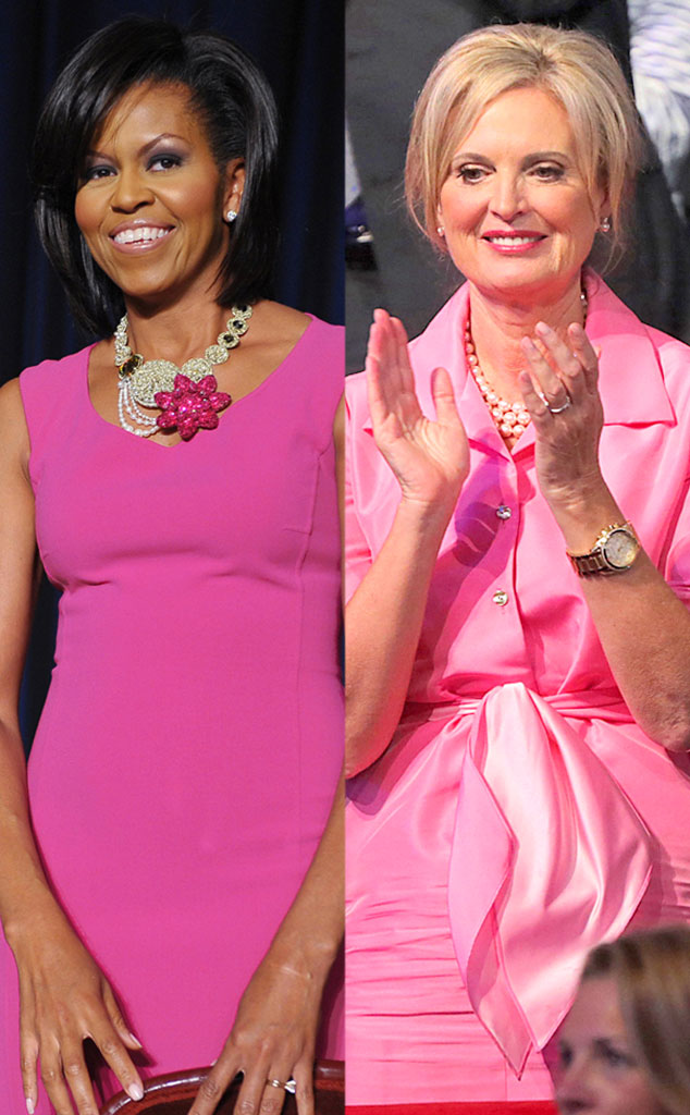 Michelle Obama, Ann Romney, Pink