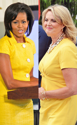 Michelle Obama, Ann Romney, Yellow