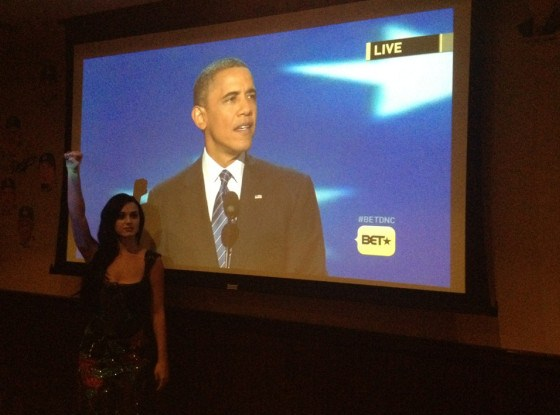 Katy Perry and Obama