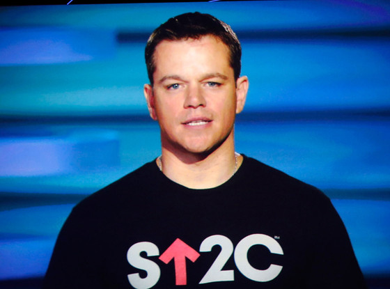 Matt Damon, Stand Up to Cancer