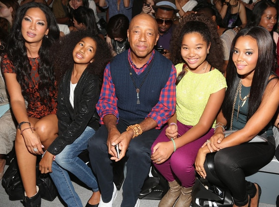 Kimora Lee, Aoki Lee, Russell Simmons, Ming Lee, Angela Simmons