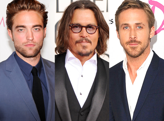 Robert Pattinson, Johnny Depp, Ryan Gosling