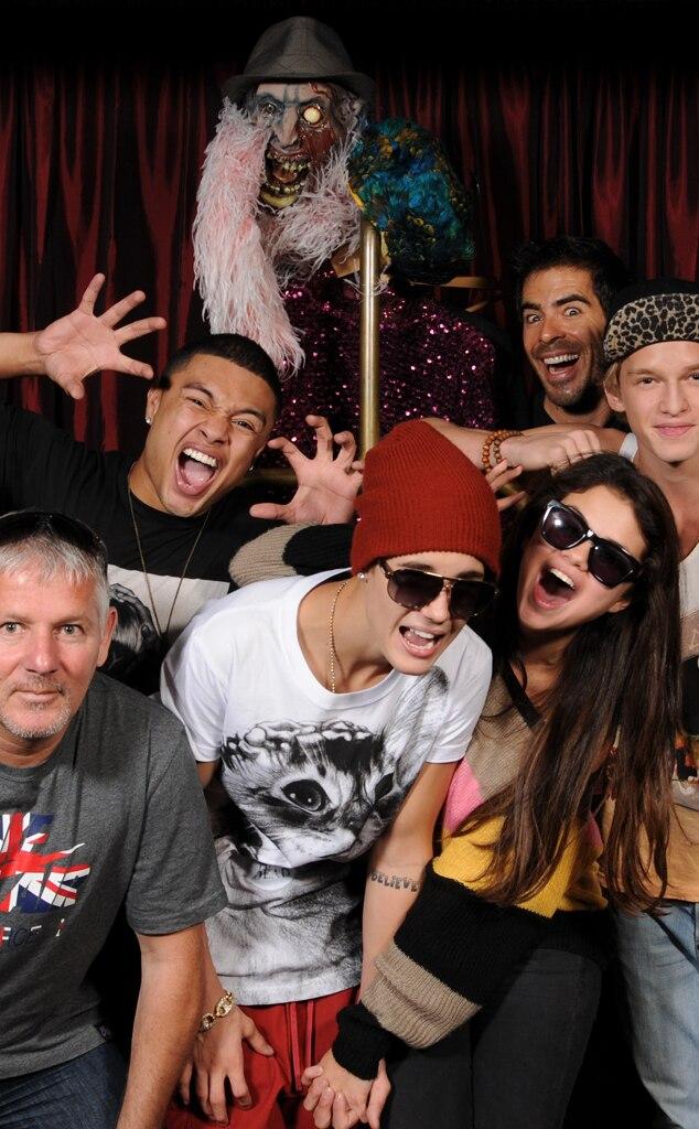 Justin Bieber, Selena Gomez, Eli Roth