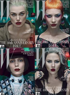 W Magazine covers, Keira Knightley, Scarlett Johansson, Mia Wasikowska, Rooney Mara