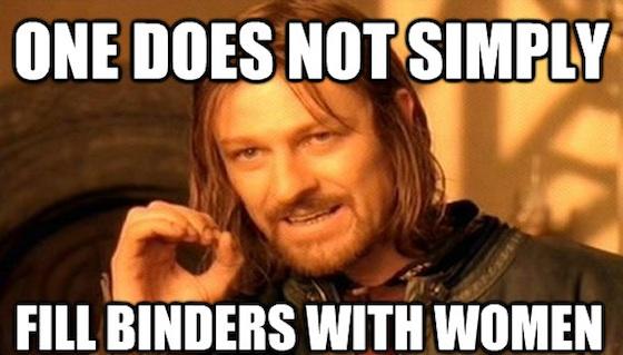 Binders full of Women Memes