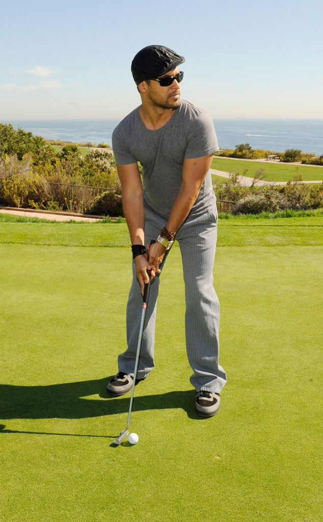 Wilmer Valderrama -  The  That 70's Show  actor looks uncharacteristically serious focusing on his golf game.