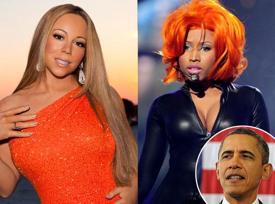 Mariah Carey, Nicki Minaj, President Barack Obama