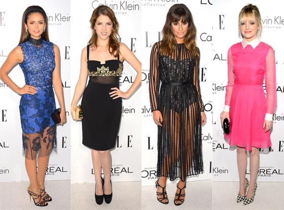 Nina Dobrev, Anna Kendrick, Lea Michele, Emma Stone