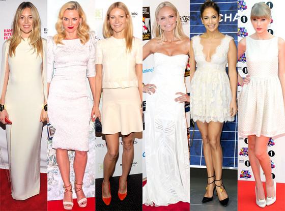 Sienna Miller, Naomi Watts, Taylor Swift, Gwyneth Paltrow, Kristin Chenoweth, Jennifer Lopez