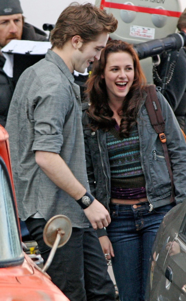 Robert Pattinson, Kristen Stewart, New Moon Set