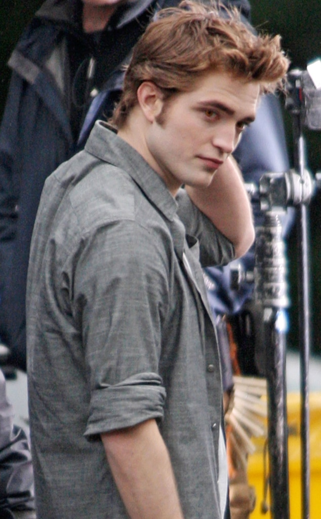 Robert Pattinson, New Moon set