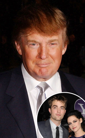 Donald Trump, Robert Pattinson, Kristen Stewart