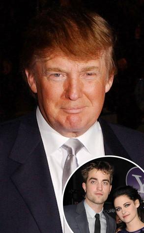 Donald Trump, Robert Pattinson, Kristen Stewart